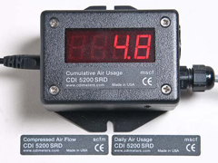 CDI SRD Remote Display and Totalization of Compressed Air Flows (5200-SRD)