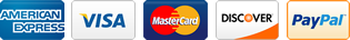 Flowmeters.com accepts all major credit cards including Visa, MasterCard, American Express, Discover, and PayPal